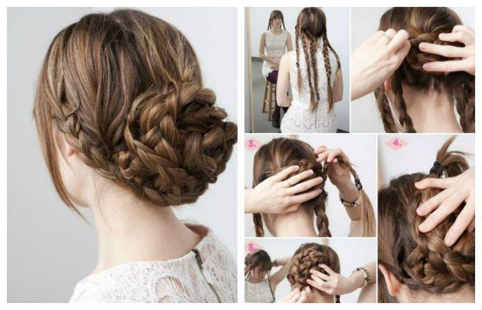 Как сделать пучок из волос?