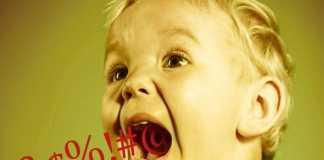 Маленький ребенок ругается нецензурными словами?