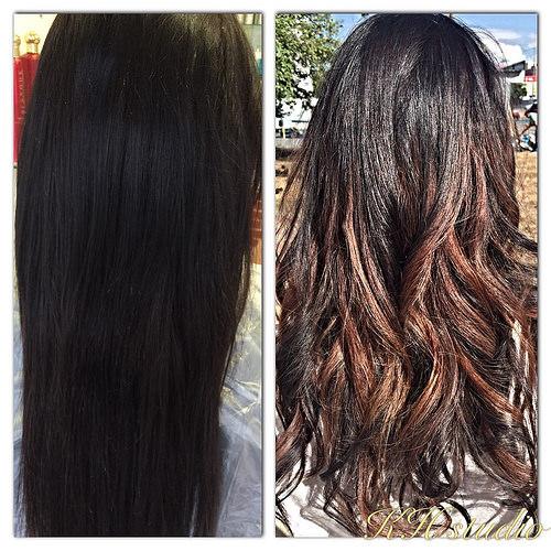 До и после фото волос