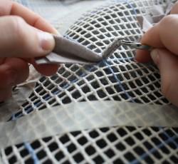 Вязание коврика из лоскутков своими руками Шаг 3
