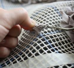 Вязание коврика из лоскутков своими руками Шаг 5