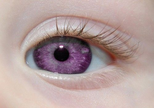 Мутация и фиолетовые глаза