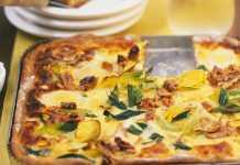 Пирог с сыром и грецкими орехами