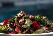 Салат из свеклы с беконом