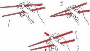 как правильно держать палочки для суши?