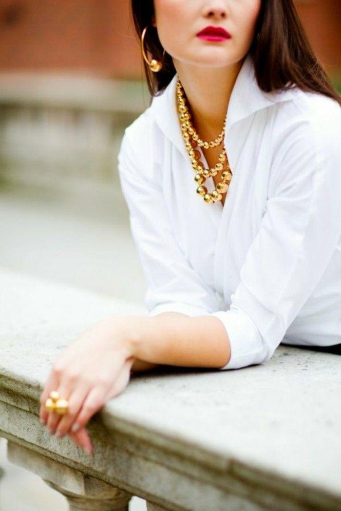 Белая рубашка и аксессуары