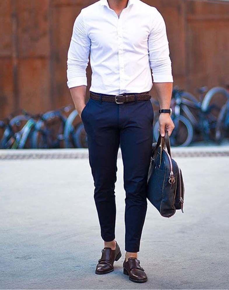 Белая рубашка в городском стиле