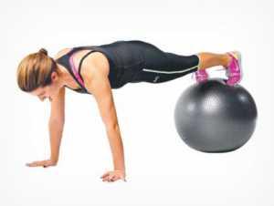 базовые упражнения на фитболе