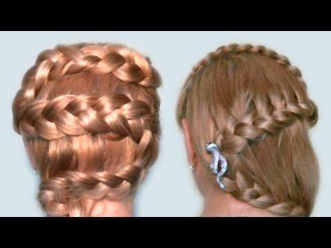 Многоуровневая коса для девочек