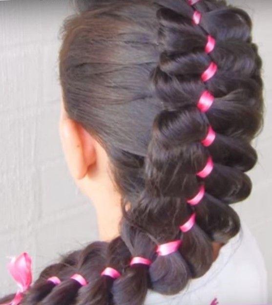 Twist косы на длинные волосы для девочек